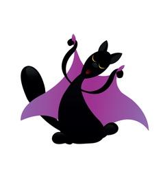 cat is dancing vector image