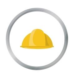 Construction helmet icon in cartoon style isolated vector