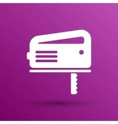Cutting fretsaw symbol appliance icon vector