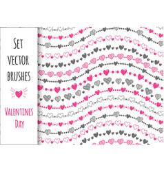 Decorative set 10 brushes vector