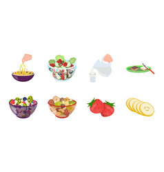 dessert fragrant icons in set collection for vector image