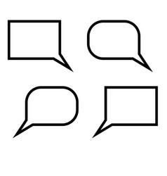 dialogue signs set black color vector image vector image