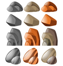 Different shapes of stone vector