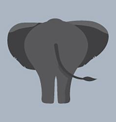 Elephant bottom vector