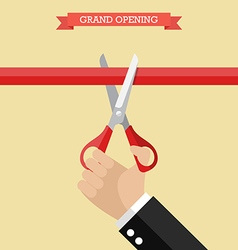 Grand opening poster in flat style vector
