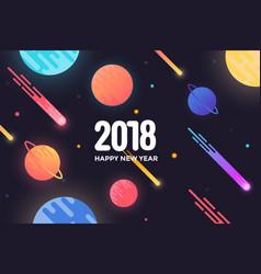 Holiday new year card - 2018 4 vector