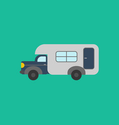 House on wheels trailer vector