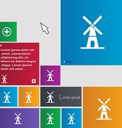 Mill icon sign buttons modern interface website vector