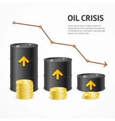 Oil industry crisis graph concept vector
