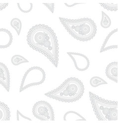 paisley hand drawn on white background hand drawn vector image