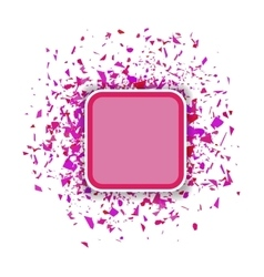 Pink Confetti Banner Set of Particles vector image vector image