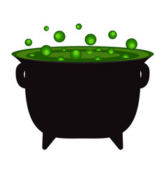 potty with a witch potion for halloween vector image vector image