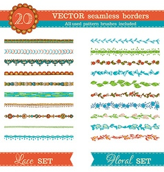 Seamless borders vector