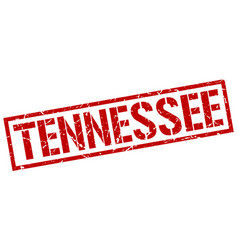 Tennessee red square stamp vector