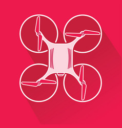 Quadcopter drone from top vector