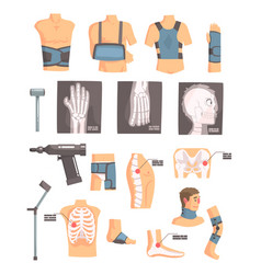 orthopedic surgery and orthopaedics attributes and vector image