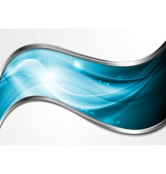 Colourful blue waves vector
