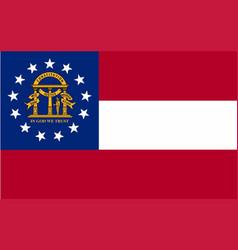 Georgia state flag vector