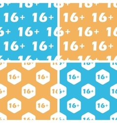 16 plus pattern set colored vector image vector image