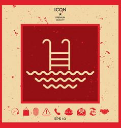 pool line icon vector image
