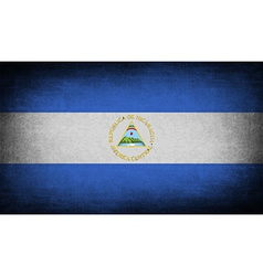 Flag of nicaragua with old texture vector
