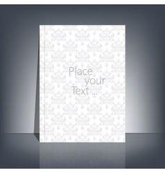White blank stationary in the style of baroque vector