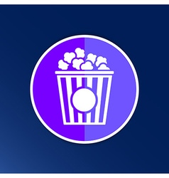 Popcorn design on blue backgroundclean logo vector