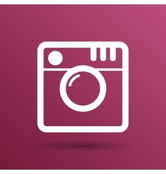 Hipster photo camera icon photo camera pictogram vector