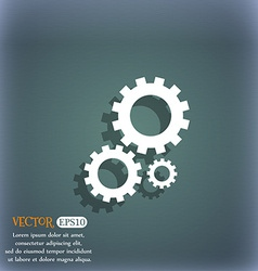 Cog settings sign icon cogwheel gear mechanism vector