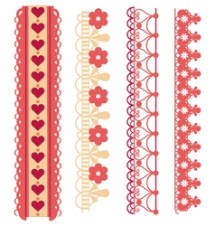 Heart decorative trim vector