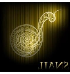 hand drawn snail vector image