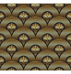 seamless ornate golden pattern vector image
