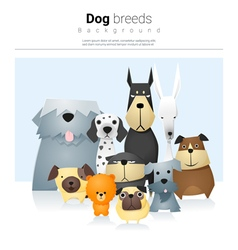 Animal background with dogs 2 vector