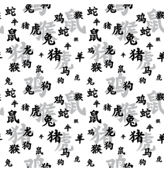 Chinese zodiac seamless vector