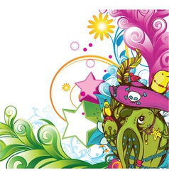 Funny monsters background vector