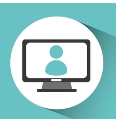 avatar computer device network icon vector image