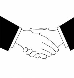 business deal handshake vector image vector image