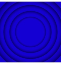 Concentric blue 6 circle blue background vector