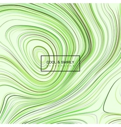Curled green iridescent pattern vector
