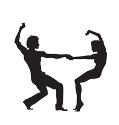 Dancing silhouette vector image vector image