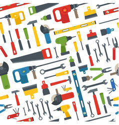 Different tools seamless pattern vector