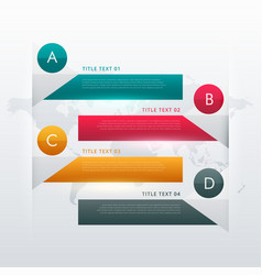 Four steps colorful infographic design for data vector