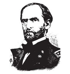 General william t sherman vintage vector
