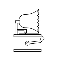 Gramophone retro player icon vector
