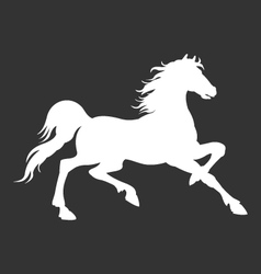 horse silhouette logo template vector image vector image