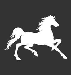 Horse silhouette logo template vector