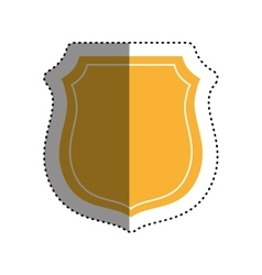 Isolated badge symbol vector image
