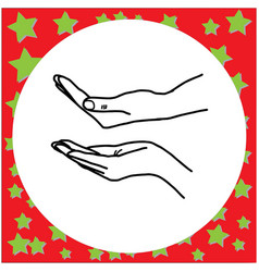 left and right hand helping vector image vector image