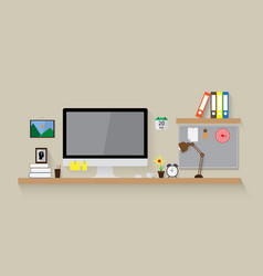 modern workspace design background vector image