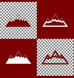 Mountain sign bordo and vector